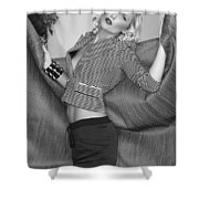Blonde Movement Bw Palm Springs Shower Curtain