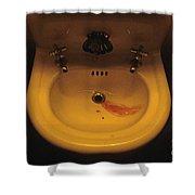 Blood In Sink Shower Curtain