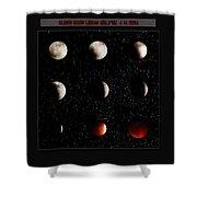 Blood Moon Lunar Eclipse 2014 Color Shower Curtain