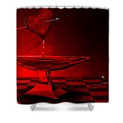 Blood Of Love Shower Curtain