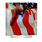 Blood Sweat And Tears Fallen For Freedom Shower Curtain