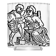 Bloodletting, 15th Century Shower Curtain