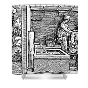 Bloodletting, C1500 Shower Curtain