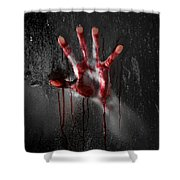 Bloody Hand Shower Curtain by Jt PhotoDesign