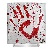 Bloody Print Shower Curtain