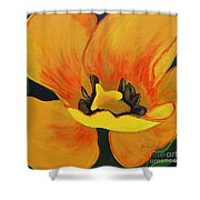 Bloomed Yellow Tulip Shower Curtain