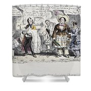 Bloomer Cartoon, C1851 Shower Curtain