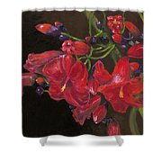 Bloomin' Red Shower Curtain