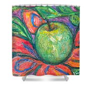 Blooming Apple Shower Curtain