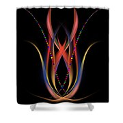 Blooming Digital Artwork Shower Curtain