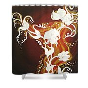 Blooming Flame Shower Curtain
