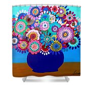 Blooming Florals 1 Shower Curtain