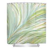 Blooming Grass Shower Curtain by Lourry Legarde