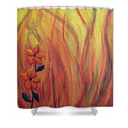 Blooming In Hell 1 Shower Curtain