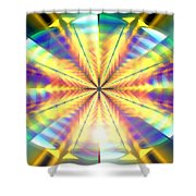 Blooming Seasons Banner Shower Curtain