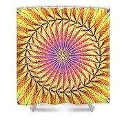 Blooming Seasons Kaleidoscope Shower Curtain by Derek Gedney