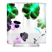 Blooming Space Shower Curtain