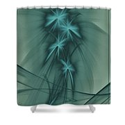 Blooming Stars 2 Shower Curtain
