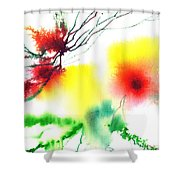 Blooms 3 Shower Curtain