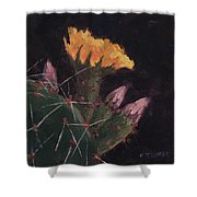 Blossom And Needles - Art By Bill Tomsa Shower Curtain