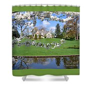 Blossom-framed House Shower Curtain