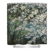 Blossoming River Shower Curtain