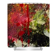 Blotted Credibility Shower Curtain