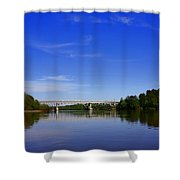Blountstown Bridge On The Apalachicola River Shower Curtain