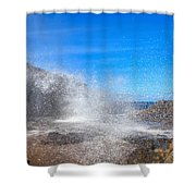 Blow Hole Blow Out Shower Curtain