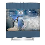 Blow The Trumpet In Zion Shower Curtain