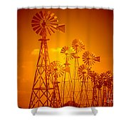 Blowin In The Wind V2 Shower Curtain