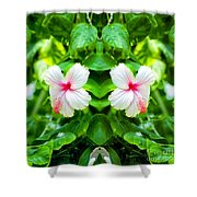Blowing In The Breeze Mirror Image Shower Curtain