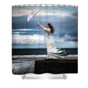 Blowing In The Wind Shower Curtain by Joana Kruse