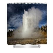Blowing Off Some Steam Shower Curtain