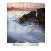 Blowing Rocks Sunrise Shower Curtain