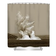 Blowing Up Arch Rock In San Francisco Bay Aug. 16, 1901 Shower Curtain