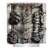 Blown Circuit Shower Curtain