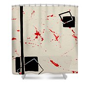 Bludgeoned Shower Curtain
