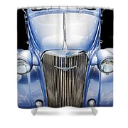 Blue 1937 Chevy Too Shower Curtain