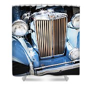 Blue 1953 Mg Shower Curtain