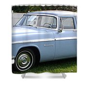Blue 1955-56 Chrysler Shower Curtain