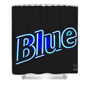Blue 2 Shower Curtain