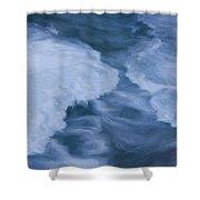 Blue 3                              Shower Curtain by Jack Zulli