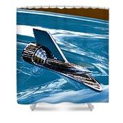 Blue 57 Chevy Bel Air Shower Curtain