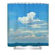 Blue A Sailors Delight Shower Curtain