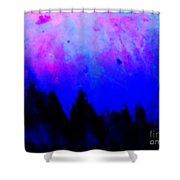 Blue Abstact  Shower Curtain