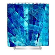Blue Abstract Art - Paths - By Sharon Cummings Shower Curtain