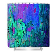 Blue Abstract Trunk Shower Curtain