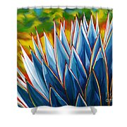 Blue Agave Shower Curtain