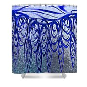 Blue And Black Swirl Abstract Shower Curtain